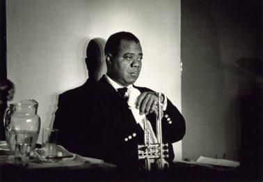 Louis Armstrong, Paris, 1960 by Herman Leonard