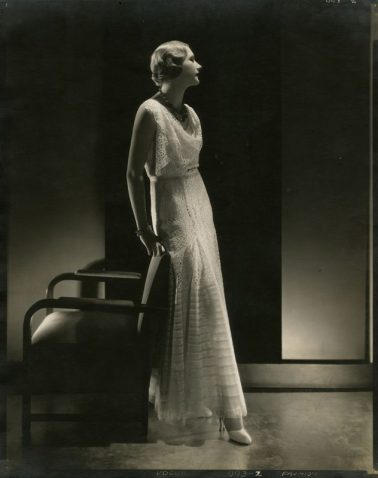 Model Peggy Boughton wearing a gown by Lelong by Edward Steichen