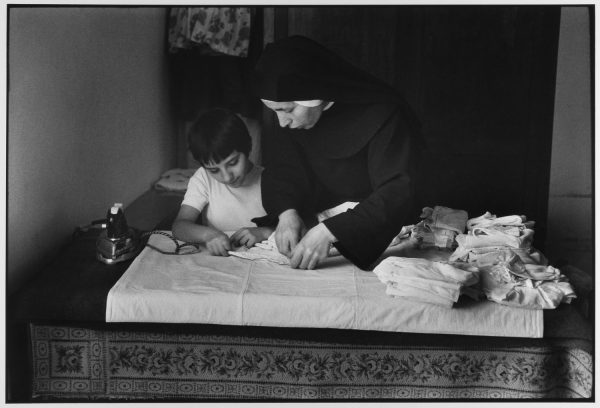 Nun instructing at school for girls, Madonie Mountains, Sicily, Italy, 1974 by Leonard Freed