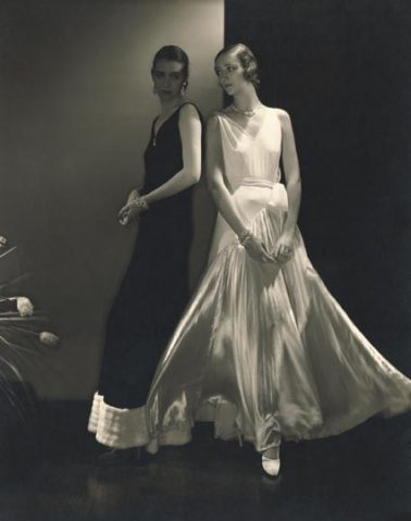 Marion Morehouse and Model wearing dresses by Vionnet, 1930 by Edward Steichen