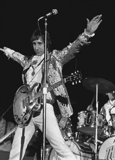Pete Townshend of the Who at the Cow Palace, San Francisco 1967 by Baron Wolman
