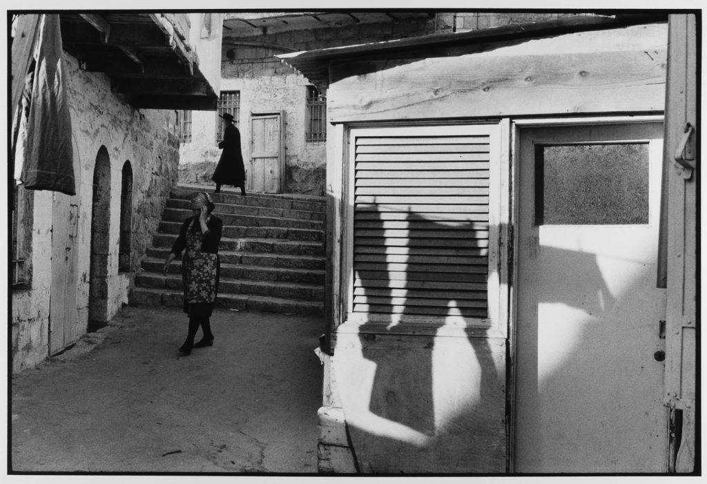 Woman hides her face, Mea Shearim, Jerusalem, Israel , 1972 by Leonard Freed