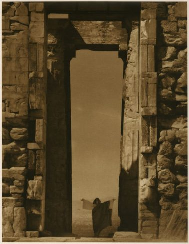 Isadora Duncan at the Portal of the Parthenon, Athens, 1921 by Edward Steichen