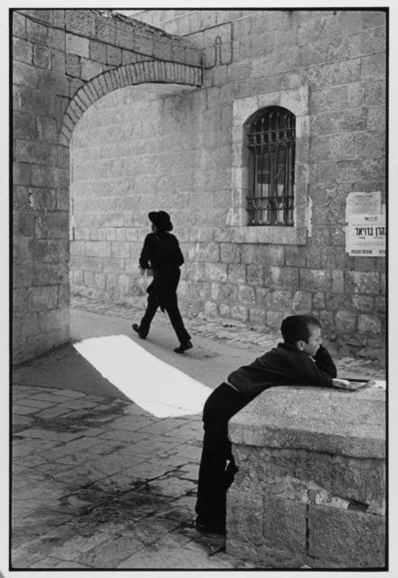 Man Rushes, Child Doesn't Jerusalem, Israel, 1967 by Leonard Freed