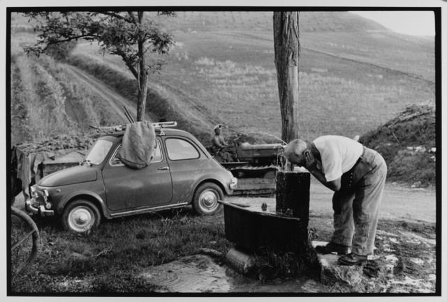 Farmer Washing Up, Sicily, Italy, 1973 by Leonard Freed