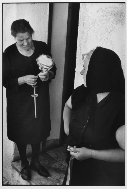 Woman spinning wool, Sicily, Italy, 1974 by Leonard Freed