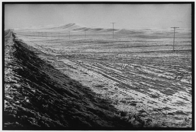 Telephone poles and light snow Turkey, 1976 by Leonard Freed