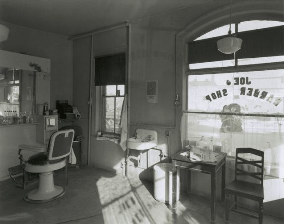 Joe's Barber Shop, Paterson, New Jersey, 1970 by George Tice
