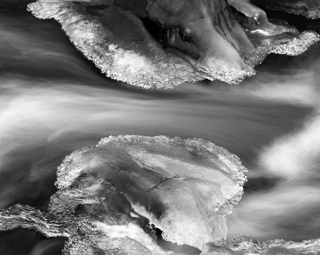 Ice, Bridal Veil Creek, Oregon, 1985 by Stu Levy