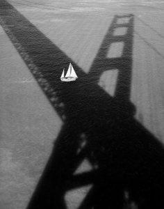 Golden Gate Bridge #176 (Sailboat & Shadow), 1994 by Stu Levy