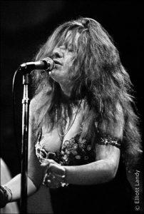 Janis Joplin, Fillmore East, opening night of the Fillmore, NYC, 1968 by Elliott Landy