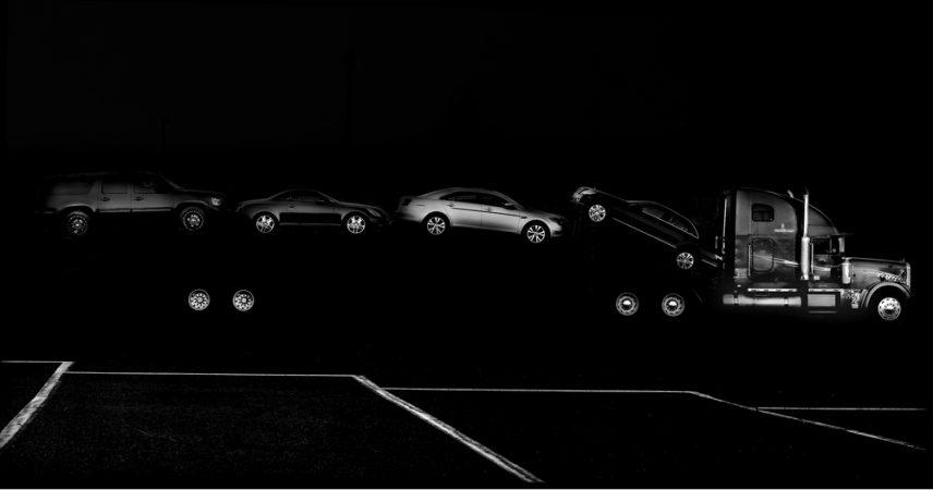 Car Hauler #1, 2014 by Michael Massaia