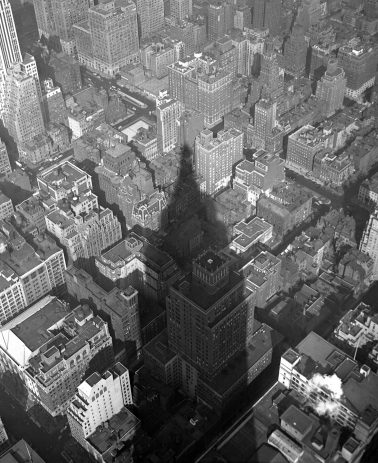 Empire State Building Shadow, 1940 by Nat Fein