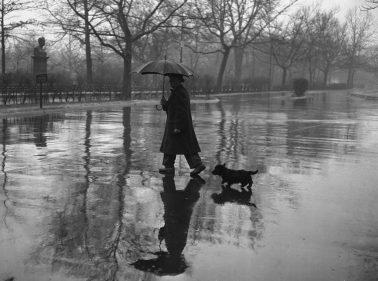 Rainy Day Walk, 1950 by Nat Fein