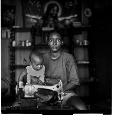 Samantha and her Child by Melchoir DiGiacomo