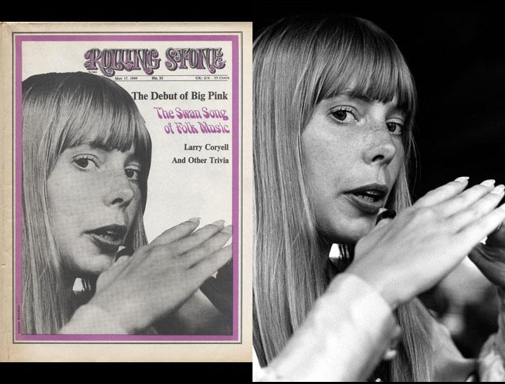 Rolling Stone Issue #33-Joni Mitchell, 1968 by Baron Wolman