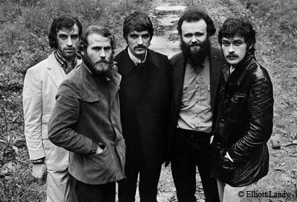 The Band, The Band album cover photo, John Joy Road, Zena, Woodstock, NY, 1969 by Elliott Landy