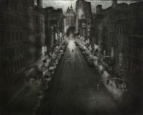 Walking Downtown, 2011 by Peter Liepke
