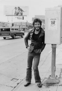 Singer Bruce Springsteen on Sunset Strip, 1975 by Terry O'Neill