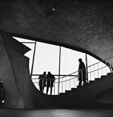 People Walking on Stairs by George Tice