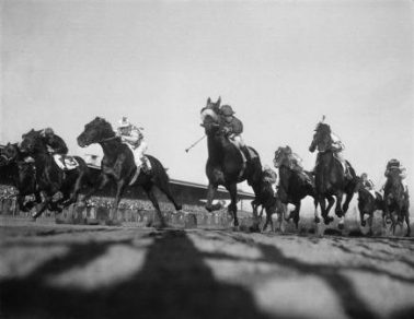 Horse Race at Aqueduct, 1950 by Nat Fein