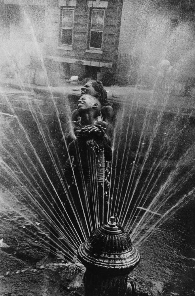 Leonard Freed: Fire Hydrant Fun, Harlem, NYC, 1963