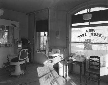 Joe's Barber Shop, Paterson, NJ, 1970 by George Tice