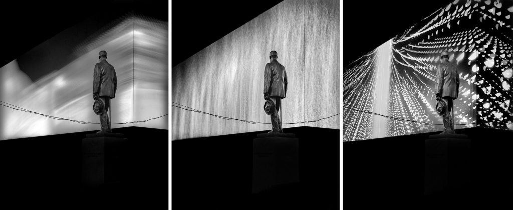 Cohan Variations #1, Times Square, NYC, triptych, 2014 by Michael Massaia