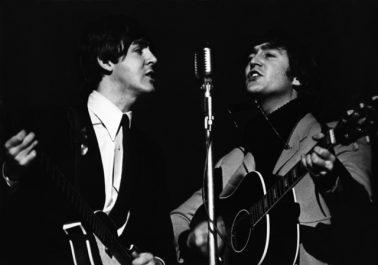 Paul Mc Cartney and John Lennon, 1964 by Terry O'Neill