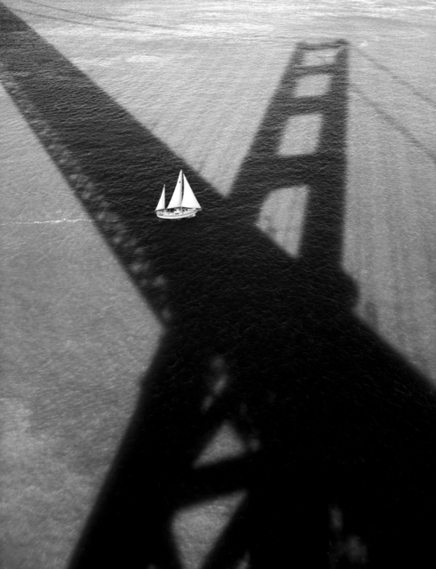 Golden Gate Bridge #176 (Sailboat & Shadow), 1994 by Stu Levy