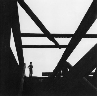 Boy on East River Pier by George Tice