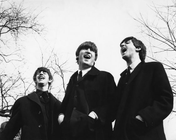 Ringo, John and Paul on the set of A Hard Day's Night, London, 1964 by Terry O'Neill