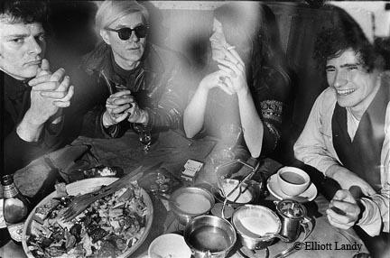 Paul Morrissey, Andy Warhol, Janis Joplin, Tim Buckley, Max's Kansas City, NYC, 1968 by Elliott Landy