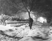 Man Walking in the Snow, 12/19/1948 by Nat Fein