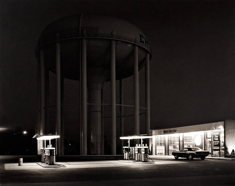 Petit's Mobil Station, Cherry Hill, NJ, 1974 by George Tice