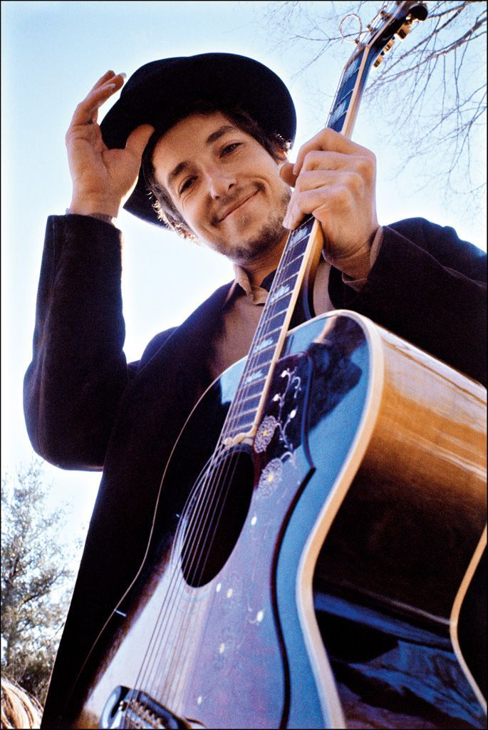 Bob Dylan at his Byrdcliff home, Nashville Skyline album cover, Woodstock, NY, 1969 by Elliott Landy