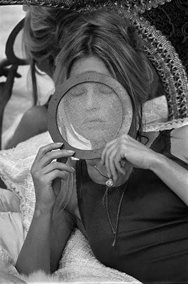 Brigitte Bardot during the filming of 'The Novices' by Terry O'Neill