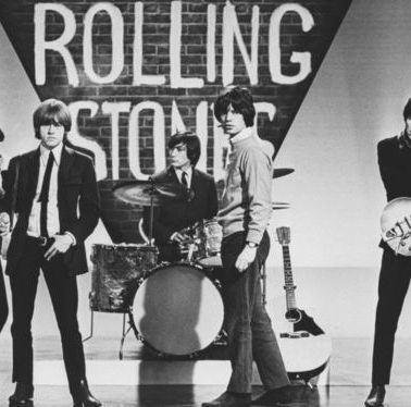 The Rolling Stones playing