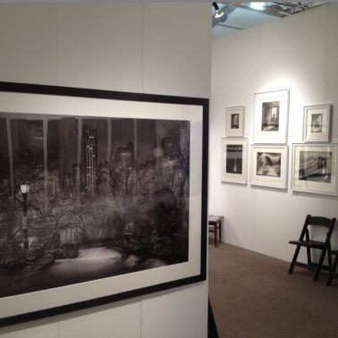 Arthamptons Display - Large Michael Massaia print and Peter Liepke exhibit