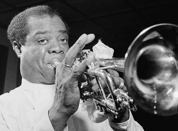 Louis Armstrong, Carnegie Hall, New York, NY by William Gottlieb