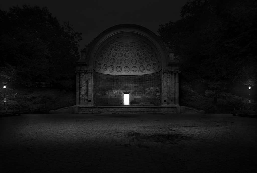 White Door in Naumberg Bandshell in Central Park, NYC by Michael Massaia