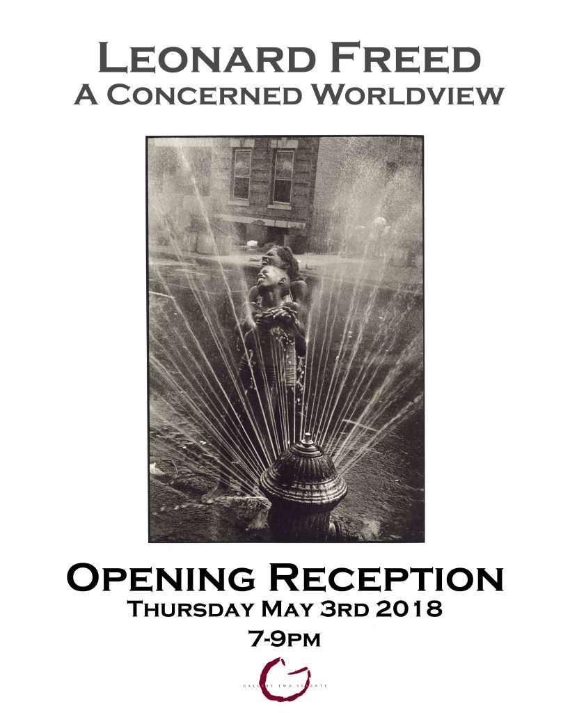 Leonard Freed 'A Concerned Worldview' Opening Reception