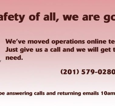 For the safety of all, we are going online.