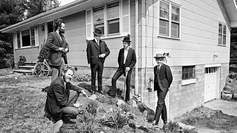 The Band Outside House