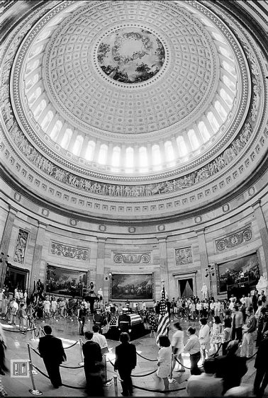 Reagan Memorial At Capitol Rotunda, Washington, DC, 2004 by Phil McAuliffe