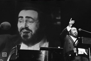 Luciano Pavarotti, War Memorial Trenton NJ by Phil McAuliffe